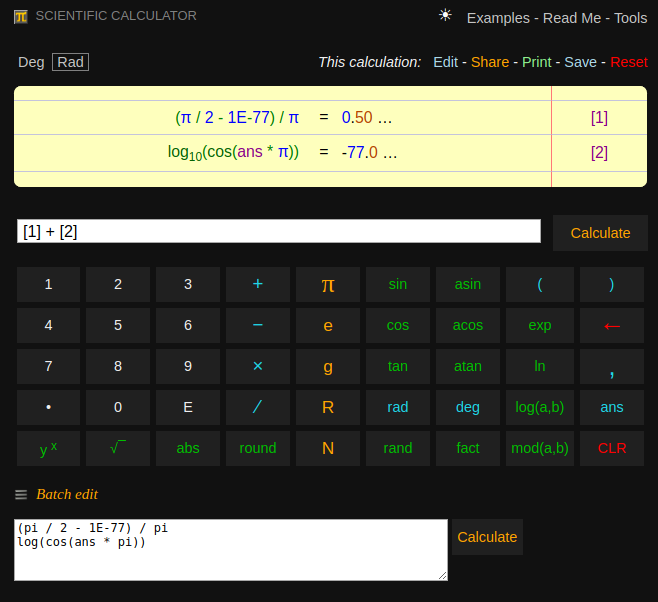 Scientific Calculator Pi
